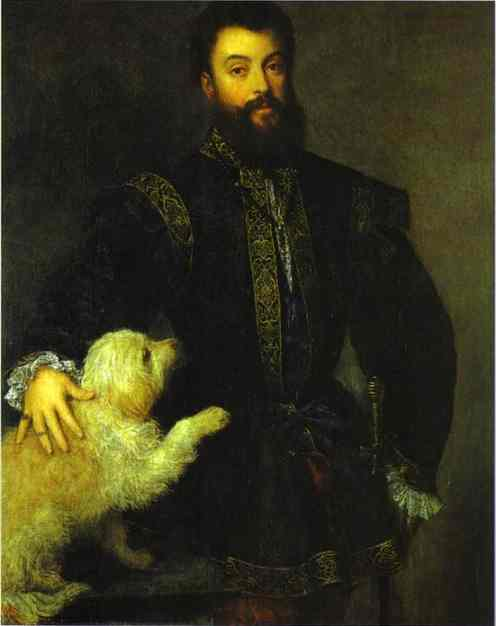 Oil painting:Portrait of Federico II Gonzaga. 1523-1529