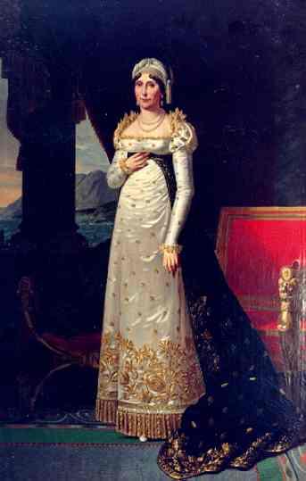 Oil painting:Portrait of Letizia Bonaparte (1750