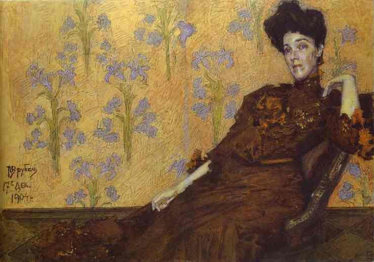 Oil painting:Portrait of N. Zabela-Vrubel. 1904
