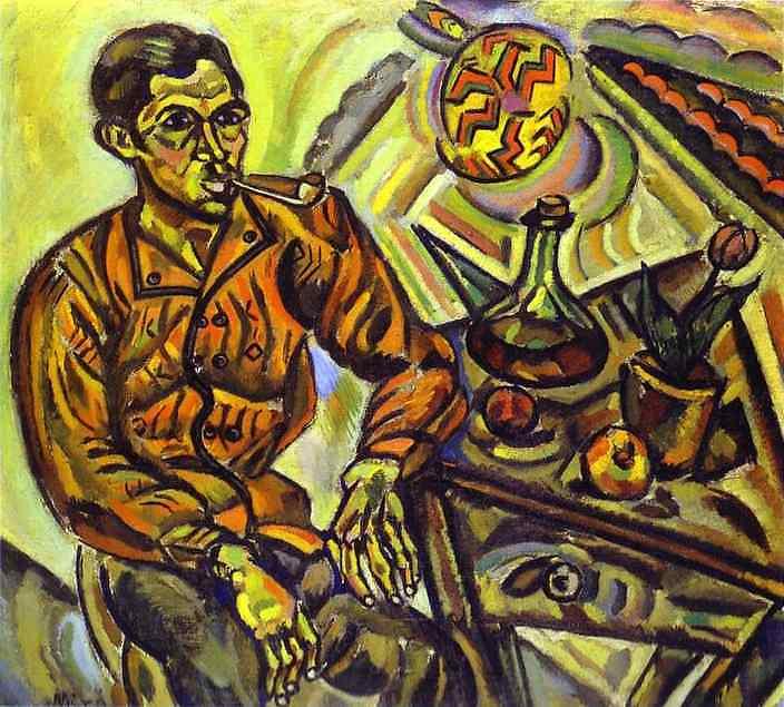 Oil painting:Portrait of V. Nubiola. 1917