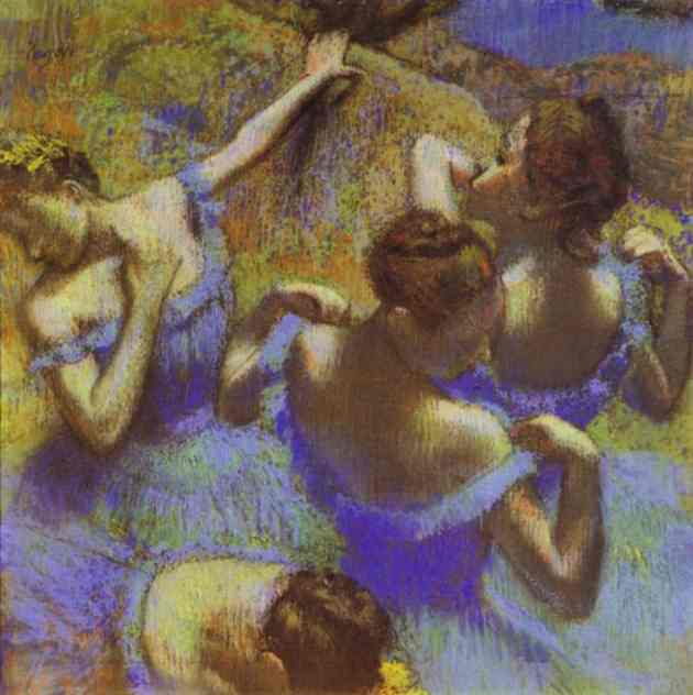 Oil painting:The Blue Dancers. 1898