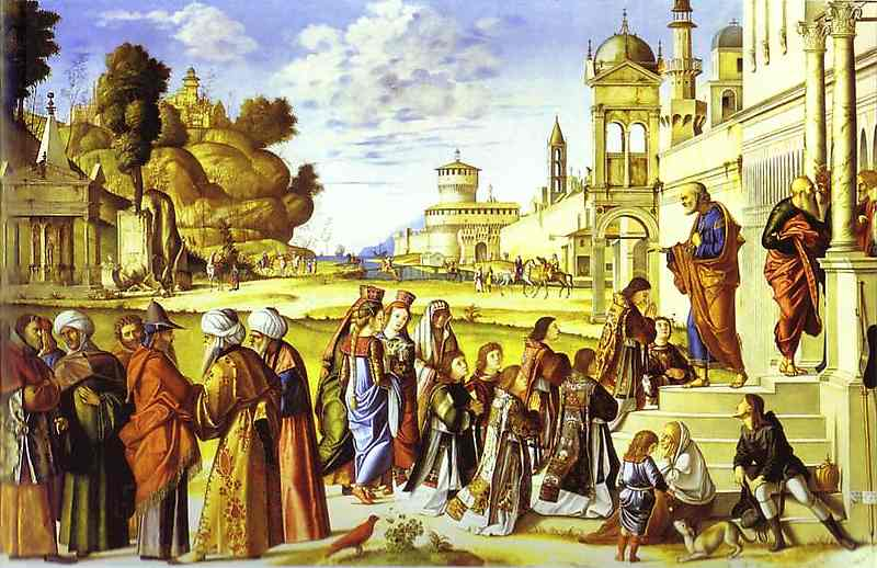 Oil painting:The Ordination of St. Stephen as Deacon. 1511