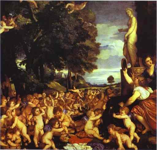 Oil painting:The Worship of Venus. 1518