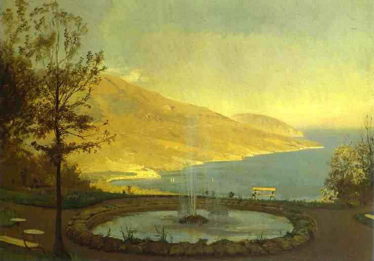 Oil painting:View from Eriklik. Study. 1872