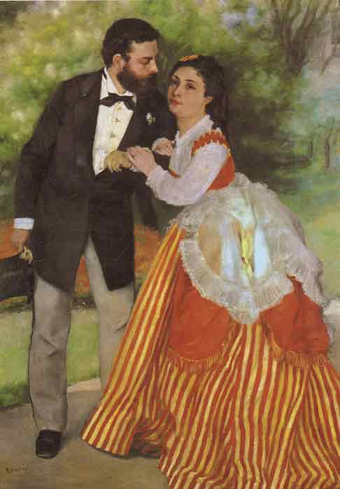 Oil painting for sale:Alfred Sisley and His Wife, 1868