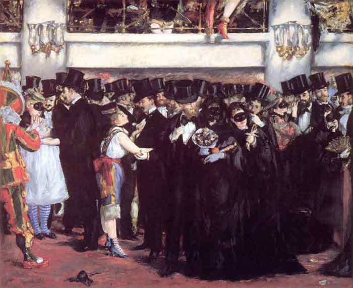 Oil painting for sale:Masked Ball at the Opera