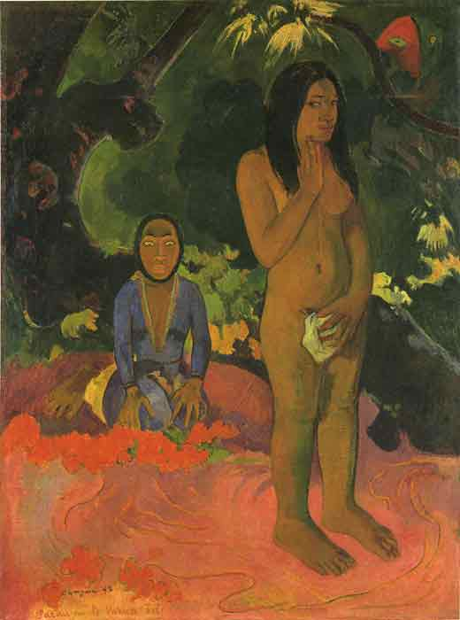 Oil painting for sale:Parau na te varua ino (Words of the Devil), 1892
