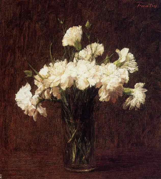 Oil painting for sale:White Carnations, 1904