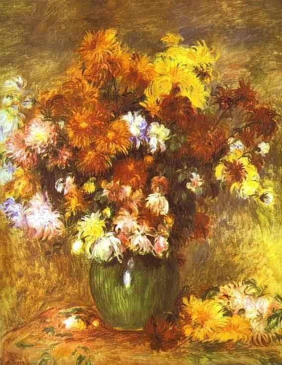Bouquet of Chrysanthemums. c.1885
