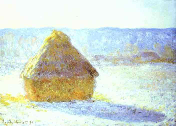 Haystack, Snow Effects, Morning. 1890.