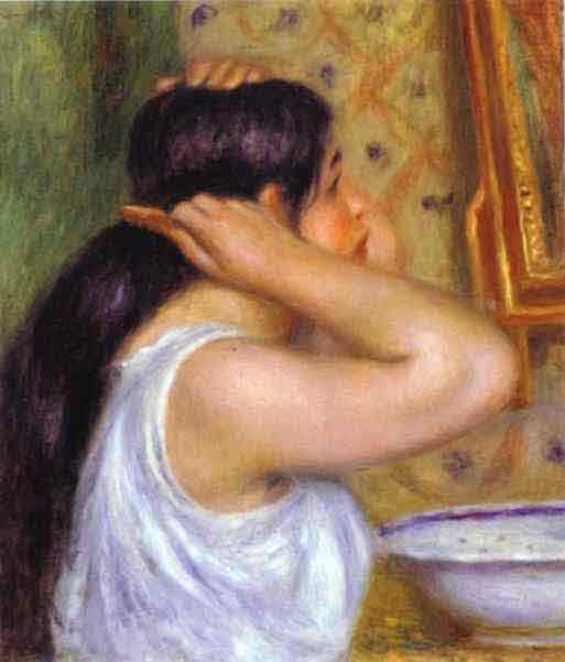 The Toilette; Woman Combing Her Hair. c.1907