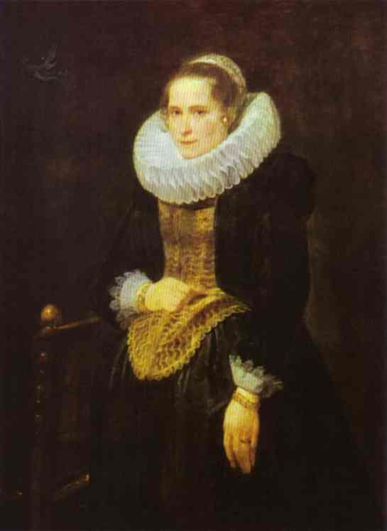 Oil painting:Portrait of a Flemish Lady. 1618