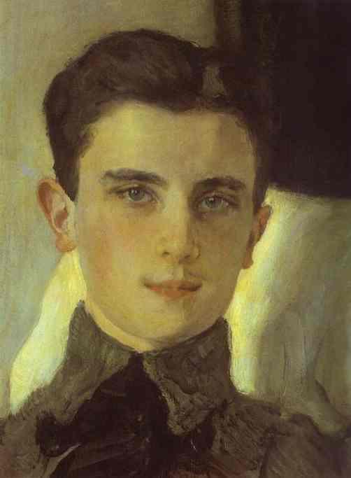 Oil painting:Portrait of Count Felix Sumarokov-Elstone, later Prince Yusupov. Detail. 1903