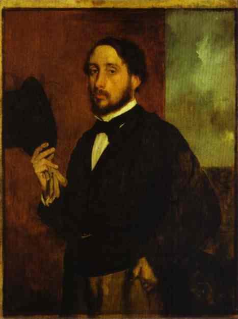 Oil painting:Self-Portrait. c.1863