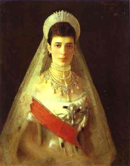 Oil painting:Portrait of the Empress Maria Feodorovna. 1882
