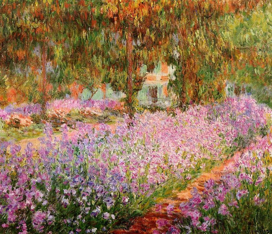 Irises in Monets Garden