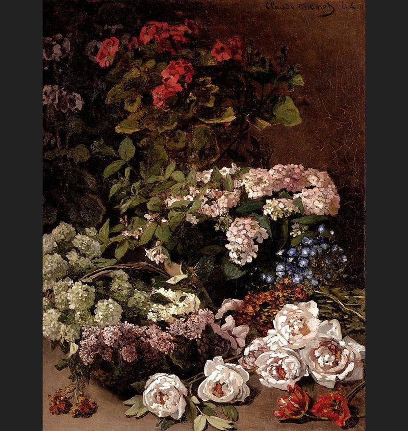 Monet Spring Flowers