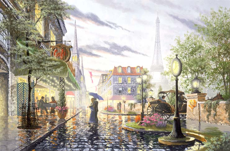 PARIS CAFE in SUMMER