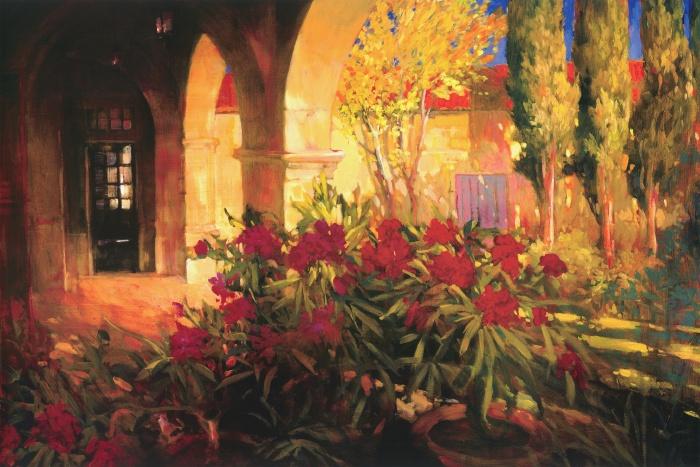Twilight Courtyard
