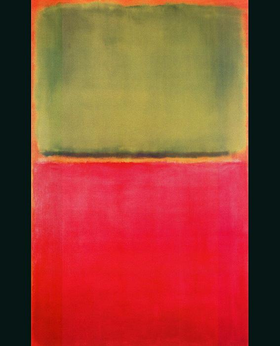 Untitled (Green, Red, on Orange)