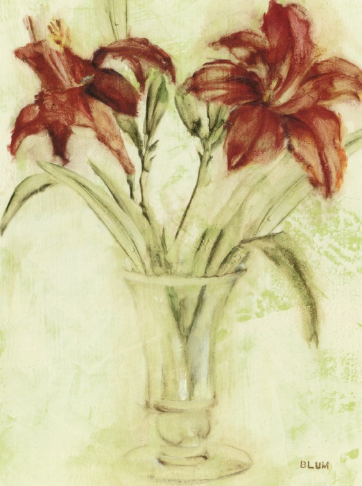 Vase of Day Lilies III