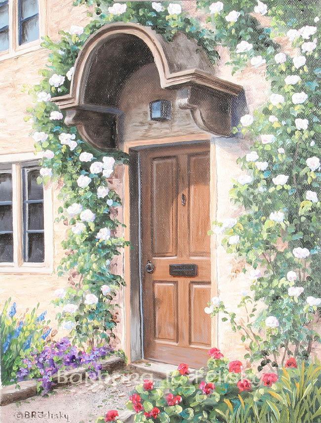 Brown Door In Chertsey