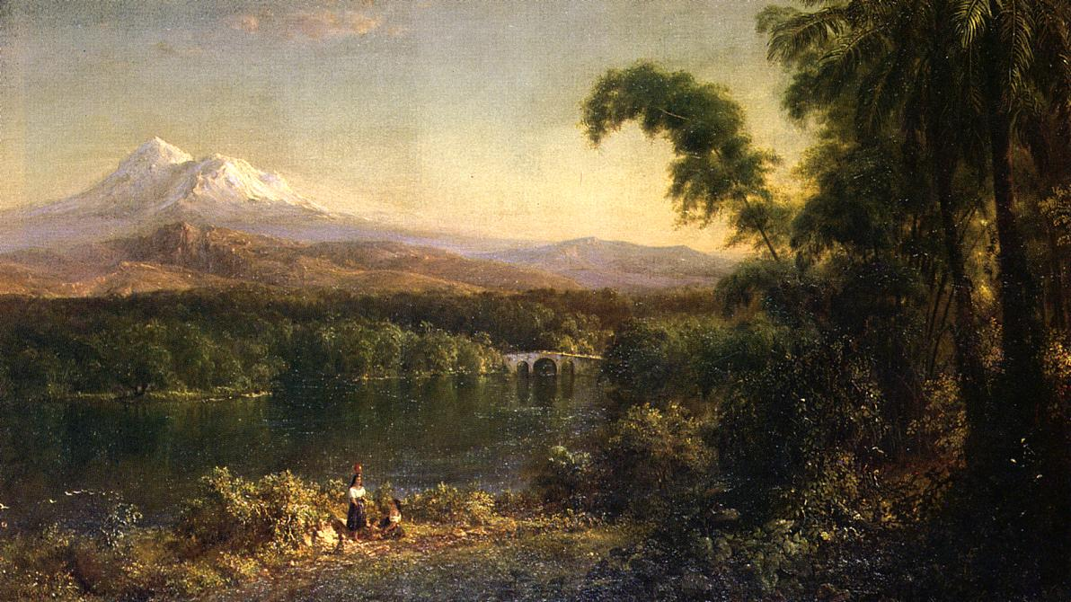 Figures in an Ecuadorian Landscape