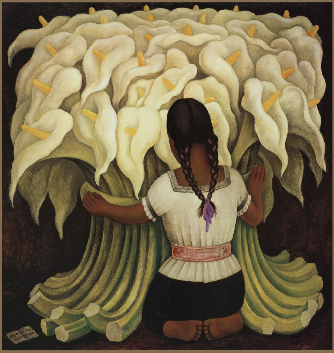 Girl with Lilies