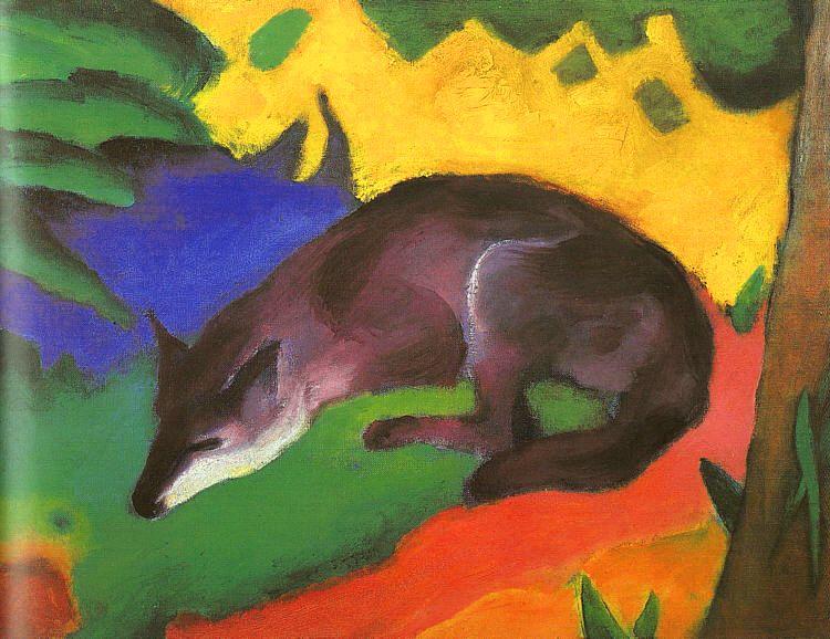 Blue Black Fox