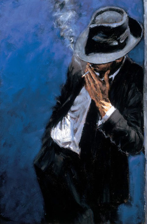Black Man Paintings Man in Black Suit