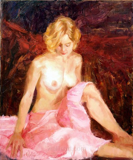 Seated in Pink