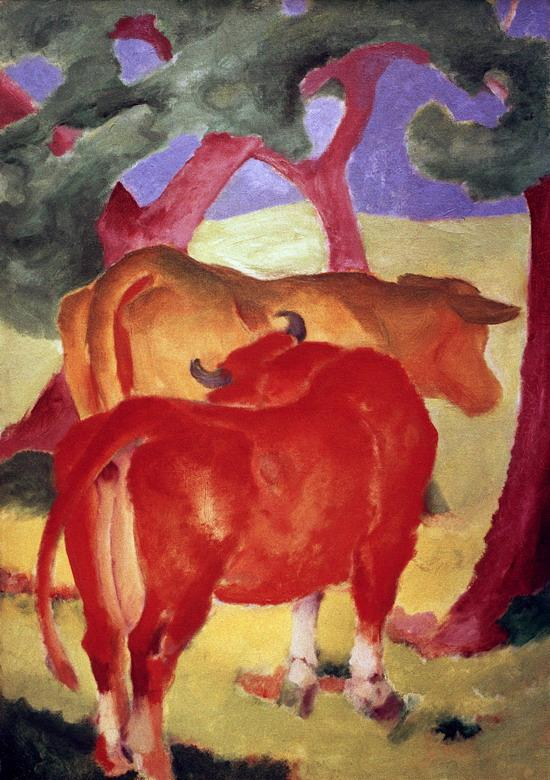 Rote Kuhe