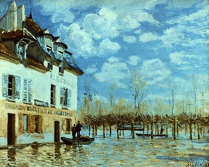 Boat in the Flood at Port Marly 1876
