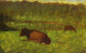 Cows in a Field. 1882.