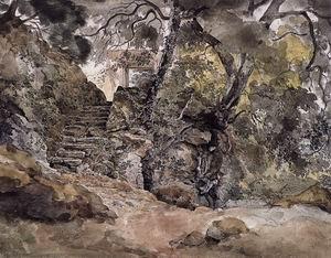 From the Park of the Villa Chigi in Ariccia 1824