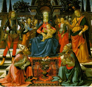 Madonna Enthroned with Saints, 1484