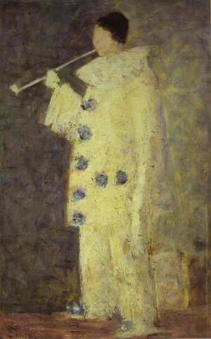 Pierrot with a White Pipe. (Aman-Jean) 1883.