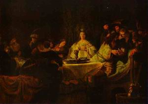 Samson Putting Forth His Riddles at the Wedding Feast 1638