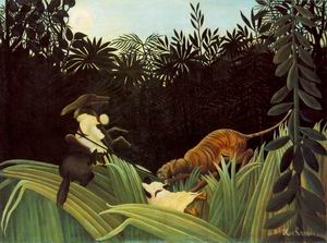 Scout Attacked by a Tiger 1904