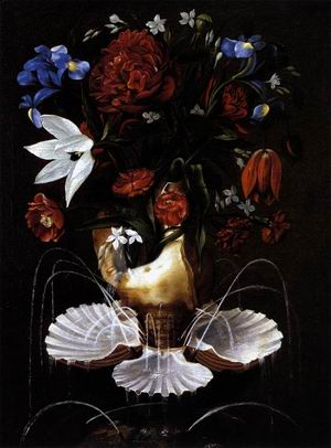 Still-Life with Shell Fountain and Flowers c. 1645