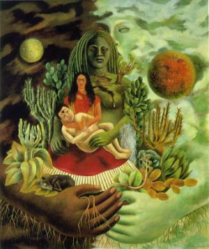 The Love Embrace of the Universe the Earth(Mexico) Myself,Diego and Senor Xolotl,1949