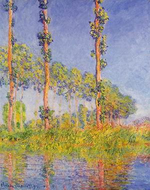 Three Poplar Trees Autumn Effect 1891