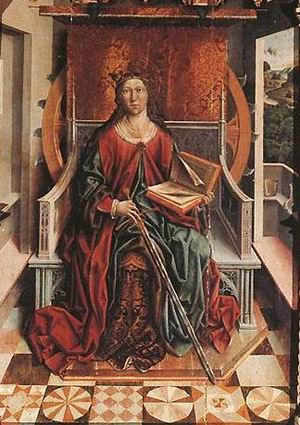 Triptych of St Catherine (centre panel)