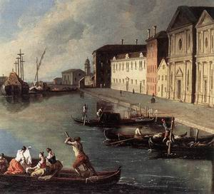 View of the Giudecca Canal (detail) 1730s