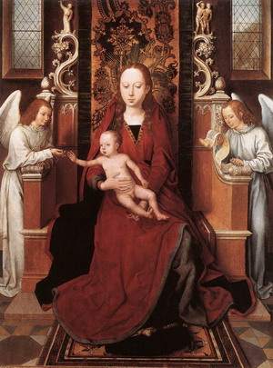 Virgin and Child Enthroned with Two Angels 1485-90