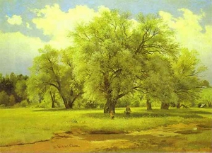 Willows Lit Up by the Sun 1860s-1870s