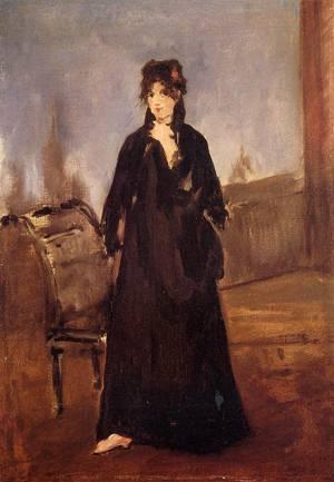 Young Woman with a Pink Shoe (aka Portrait of Bertne Morisot) 1868