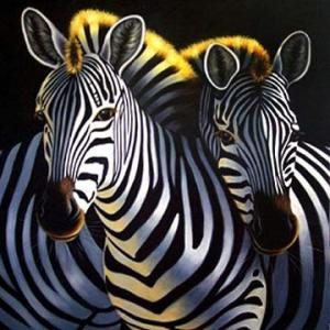 zebra oil painting - photo #48