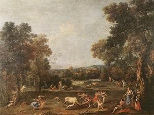 Bull-Hunting c. 1736