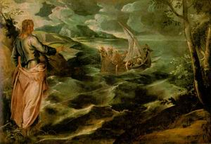 Christ at the Sea of Galilee c. 1575-80